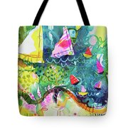 Path Around The Lake Tote Bag