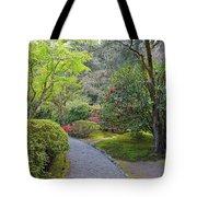 Path At Japanese Garden Tote Bag