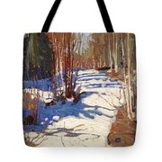Path Behind Mowat Lodge Tote Bag