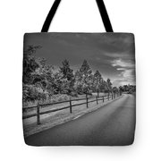Path - Black And White Tote Bag