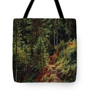 path in the woods 55h34 Ivan Ivanovich Shishkin Tote Bag