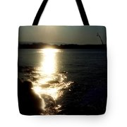 Path Of Sunlight On The Sea Tote Bag