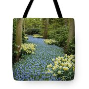 Path Of The Beautiful Spring Flowers Tote Bag