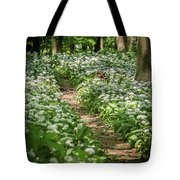 Path Through A Deciduous Forest, Wild Garlic Tote Bag