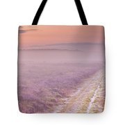 Path Through Blooming Heather Near Hilversum, The Netherlands Tote Bag