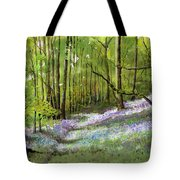 Path Through Bluebell Wood Tote Bag