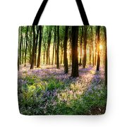 Path Through Bluebell Woods Tote Bag