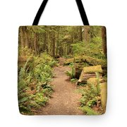 Path Through Mossy Forest Tote Bag
