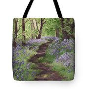 Path Through The Bluebells Tote Bag
