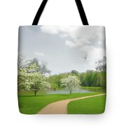 Path To Heart Tote Bag