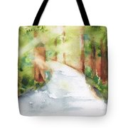 Path To Light Watercolor Tote Bag