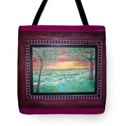 Path To The Pedernales River With Painted Frame Tote Bag