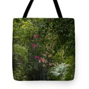Path With Flowers Tote Bag
