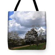 Pathway Along The Dogwood Trees Tote Bag