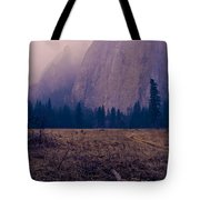 Pathway During First Snow In Yosemite Valley Tote Bag by Priya Ghose
