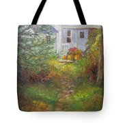 Pathway From The Treehouse Tote Bag