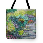 Pathway Of Flowers Tote Bag