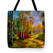 Pathway Through The Forest H A Tote Bag