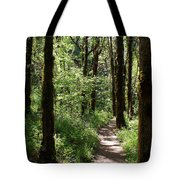 Pathway Through The Woods Tote Bag