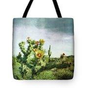 Patina Green Desert Bloom Tote Bag