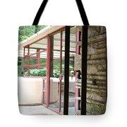 Patio Fallingwater  Tote Bag