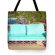 Patio Invitation Palm Springs Tote Bag