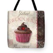 Patisserie Chocolate Cupcake Tote Bag