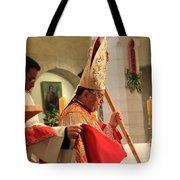 Patriarch Fouad Twal At Christmas Mass Tote Bag