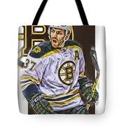 Patrice Bergeron Boston Bruins Oil Art 1 Tote Bag