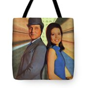 Patrick Macnee And Diana Rigg, The Avengers Tote Bag