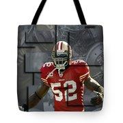 Patrick Willis San Francisco 49ers Blocks Tote Bag