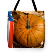 Patriotic American Pumpkin Tote Bag