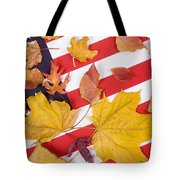 Patriotic Autumn Colors Tote Bag