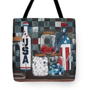Patriotic Bottles And Jars Tote Bag