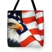 Patriotic Eagle And Flag Tote Bag