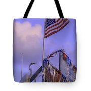 Patriotic Egret Tote Bag