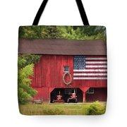 Patriotic Farmer Tote Bag