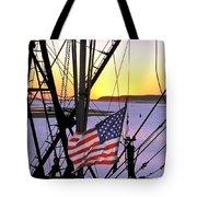 Patriotic Fisherman Tote Bag