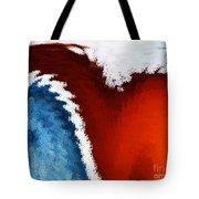 Patriotic Heart Tote Bag