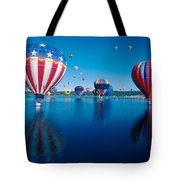 Patriotic Hot Air Balloon Tote Bag