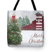 Patriotic Merry Christmas Tote Bag