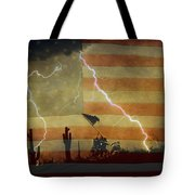 Patriotic Operation Desert Storm Tote Bag