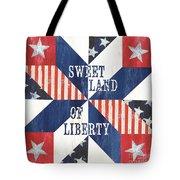 Patriotic Quilt 3 Tote Bag
