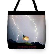 Patriotic Storm - Poster Print Tote Bag