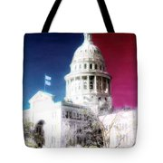 Patriotic Texas Capitol Tote Bag