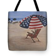 Patriotic Umbrella Tote Bag