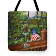 Star Spangled Wine - Fourth Of July - Blue Ridge Mountains Tote Bag