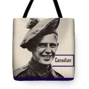 Patriotic World War 2 Poster Us Allies Canada Tote Bag