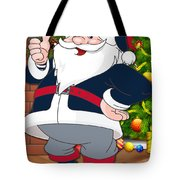 Patriots Santa Claus Tote Bag