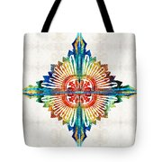 Pattern Art - Color Fusion Design 1 By Sharon Cummings Tote Bag